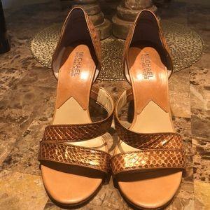 Michael Kors real snakeskin heels size 7.